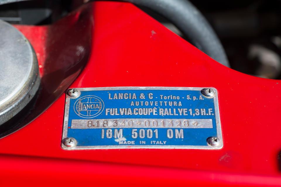 1968 Lancia Fulvia Rallye 1.3 HF Coupé  Chassis no. 818340001328
