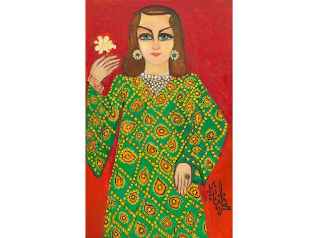 Fahr El-Nissa Zeid (Turkish, 1900-1991) Portrait of Princess Alia of Jordan