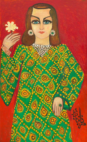 Fahr El-Nissa Zeid (Turkish, 1900-1991) Portrait of Princess Alia of Jordan