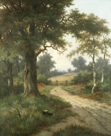 Hendrik Pieter Koekkoek (Dutch, 1843-died circa 1890) The woodland track, a pair (2)