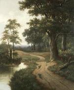 Hendrik Pieter Koekkoek (Dutch, 1843-died circa 1890) The woodland track, a pair (2)