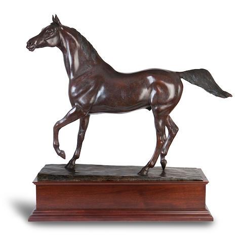 Philip Blacker (British, born 1949) Twaig, an Arabian stallion 90cm wide, 30cm deep, 110cm high (35 7/16in wide, 11 13/16in deep, 43 5/16in high) not including plinth.
