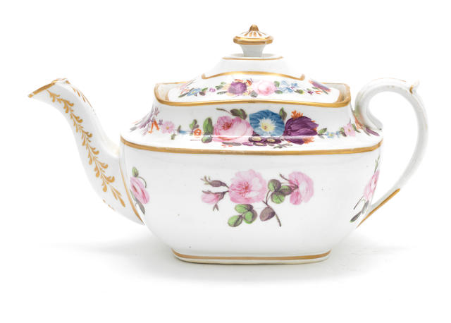 A good Swansea teapot and cover, circa 1815-17