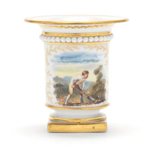 A Flight, Barr and Barr miniature vase, circa 1825
