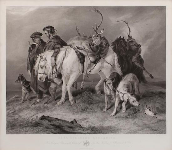 After Sir Edwin Henry Landseer, RA Deer Stalkers Returning (together with another after the same artist)