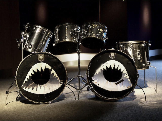 Bonhams Motorhead Phil Philthy Animal Taylor An Original Camco Drum Kit With Shark Motif Bass Drumskins 1970 S