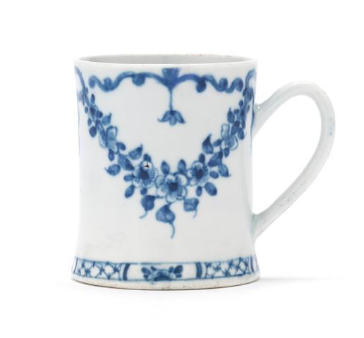 A very rare Worcester coffee can, circa 1753-55