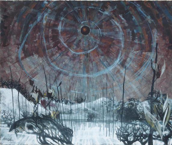 Alan Reynolds (British, 1926-2014) Saga-Winter 35.6 x 42.6 cm. (14 x 16 3/4 in.)