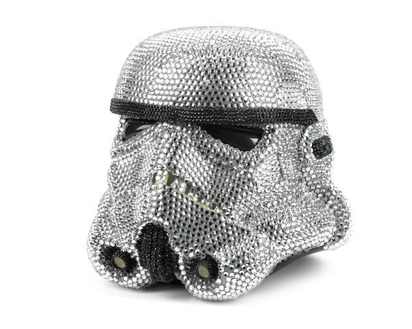 Star Wars: A Swarovski crystal encrusted stormtrooper helmet entitled 'StormOffSki', Ben Moore, 2010,