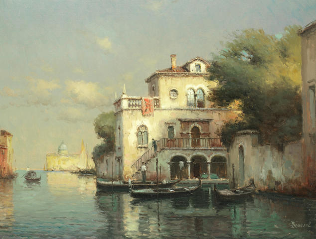 Noel Georges Bouvard (French, 1912-1975) A Venetian canal scene