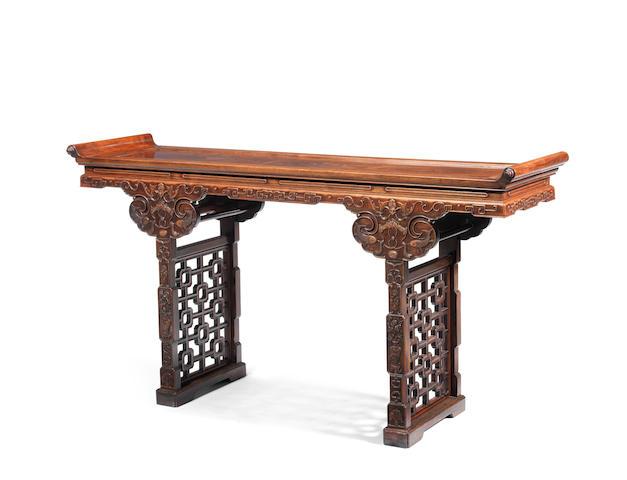 A large hongmu side table Republic period