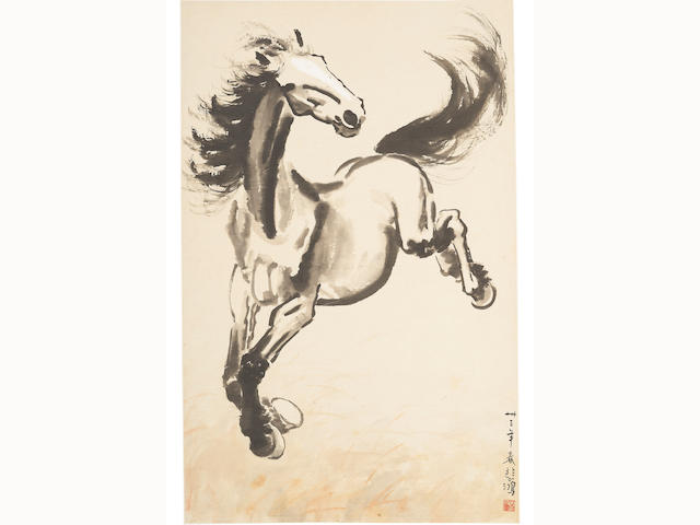 Attributed to Xu Beihong (1895 - 1953) Galloping Horse, 1933