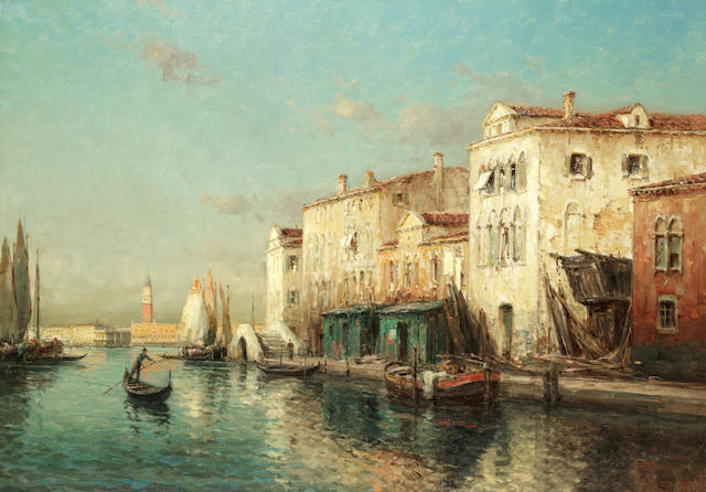 Antoine Bouvard (French, 1870-1956) Looking towards the Grand Canal, Venice