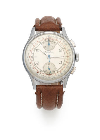 Breitling. A stainless steel manual wind chronograph wristwatch Ref: 178, Circa 1945