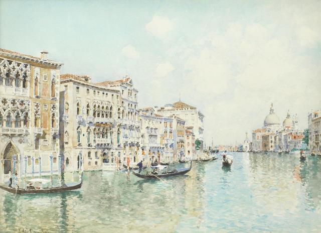 Federico Del Campo (Italian, 1878-1912) The Grand Canal, Venice