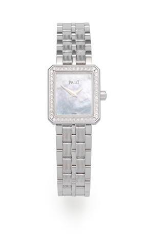 Piaget. A lady's 18K white gold and diamond set quartz bracelet watch  Protocole, Ref: 5355 M601D, Circa 2004
