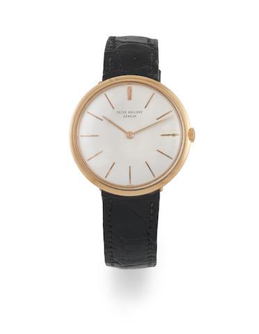 Patek Philippe. An 18K gold manual wind wristwatch   Calatrava, Ref: 2591, Circa 1960