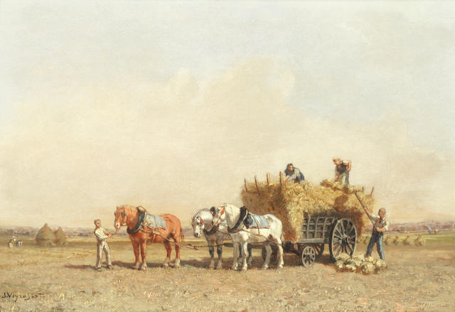 Jules Jacques Veyrassat (French, 1828-1893) The harvest