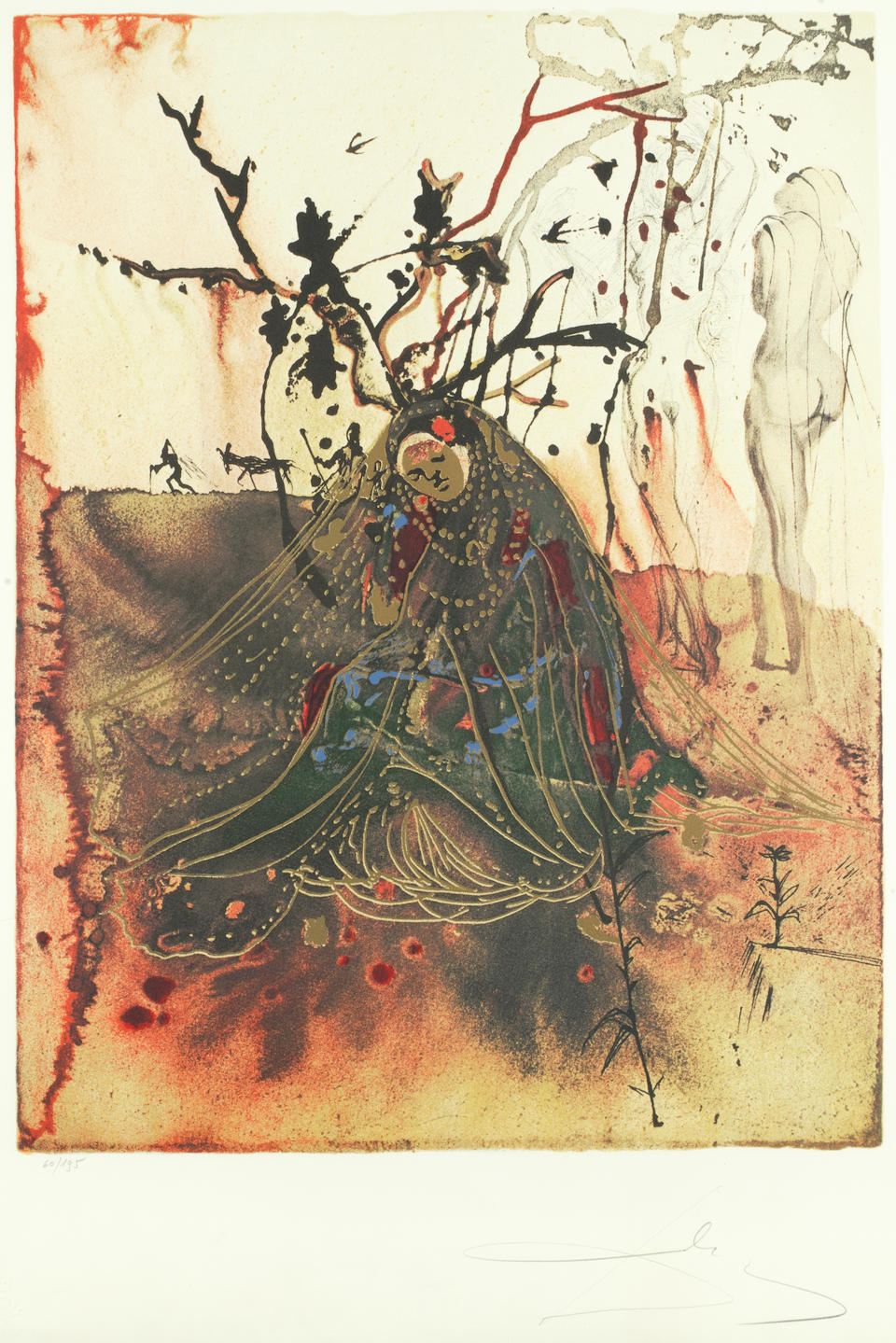 Salvador Dali (Spanish, 1904-1989) The Four Seasons  The complete set of four lithographs in colours, 1972, on Arches, each signed in pencil, each variously numbered from the 195, published by Les Heures Claires, Paris, with their blindstamp, 400 x 500mm (15 3/4 x 19 5/8in)(I)(or the reverse)(4)