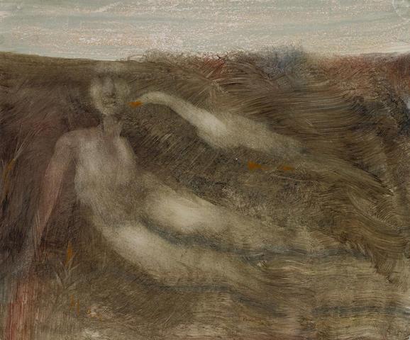 Sidney Nolan (1917-1992) Leda and the Swan, c.1960