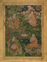 Two 'arhat' thangkas Tibet, 18th century (2)