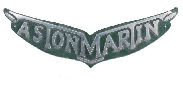 A cast alloy Aston Martin sign,