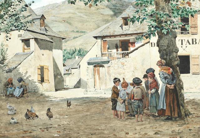 Santiago Arcos y Megalde (Chilean, 1865-1912) The travelling artist