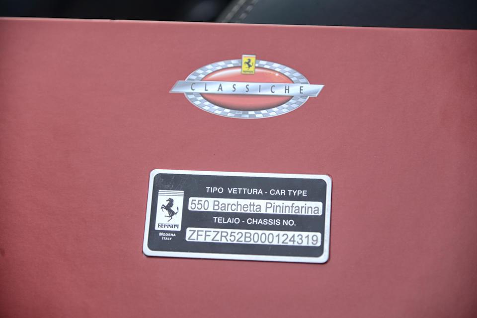 Certificato Ferrari Classiche,2001 Ferrari 550 Barchetta