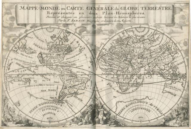SANSON D'ABBEVILLE (NICOLAS AND GUILLAUME) Description de tout l'univers, en plusieurs cartes, & en divers traitez de geographie et d'histoire, Amsterdam, Francois Halma, 1700