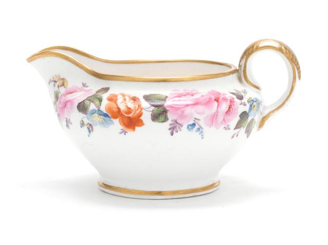 An important Nantgarw milk jug, circa 1818-20