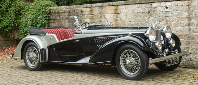 One of only 12 built,1937 Alvis 4.3-Litre 'Short Chassis' Tourer  Chassis no. 14328