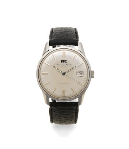 IWC. A stainless steel automatic calendar wristwatch Ref: R810AD, Circa 1970