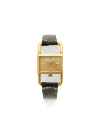 Jaeger-LeCoultre. A lady's 18K gold manual wind rectangular wristwatch Circa 1965