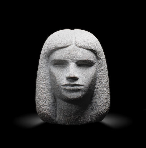 Mahmoud Moussa (Egypt, 1913-2003) Female head height: 23cm