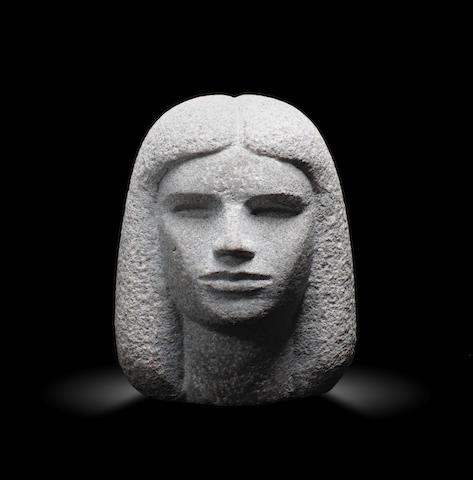 Mahmoud Moussa (Egypt, 1913-2003) Female head height: 23cm