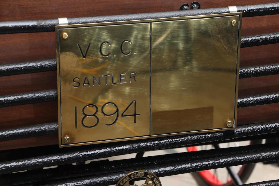 1894 Santler 3½hp Dogcart  Chassis no. 1036