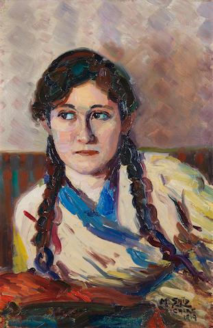 Mahmoud Said (Egypt, 1897-1964) Portrait de ma Soeur (Zeinab Said)