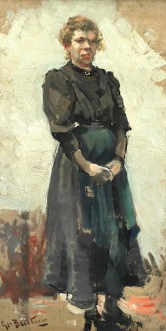 George Hendrik Breitner (Dutch, 1857-1923) Study of a woman