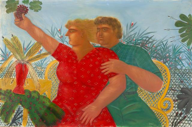 Alecos Fassianos (Greek, born 1935) Amour d'Eté 105 x 160 cm.