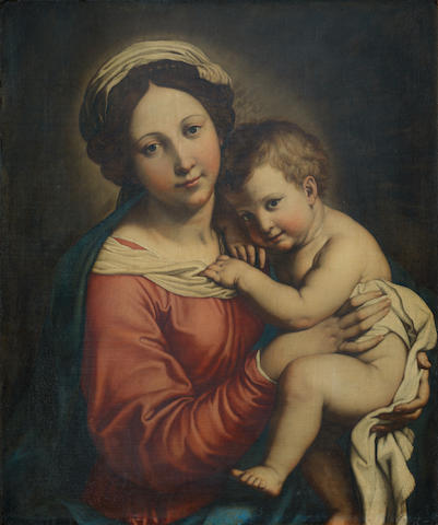 Attributed to Giovanni Battista Salvi, called il Sassoferrato (Sassoferrato 1609-1685 Rome) The Madonna and Child