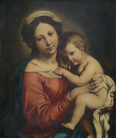 Attributed to Giovanni Battista Salvi, called il Sassoferrato (Sassoferrato 1609-1685 Rome) The Madonna and Child
