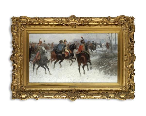 Jan van Chelminski (Polish, 1851-1925) 'Battle of Montmirail 1814'