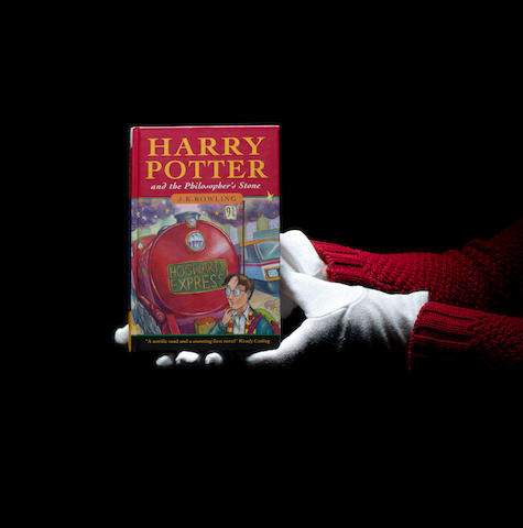 "ROWLING (J.K.) Harry Potter and the Philosopher's Stone, FIRST EDITION, FIRST ISSUE, AUTHOR'S PRESENTATION COPY, inscribed ""27.7.97 For Meera, Donnie, Nastassia and Kai, with lots of love from Jo (also known as J.K. Rowling)"", Bloomsbury, 1997"
