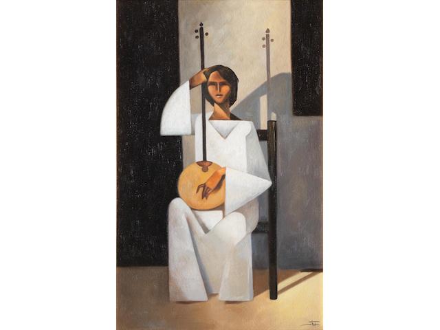Hussein Bicar (Egypt, 1913-2002) The Rebab Player