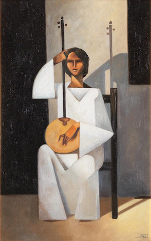 Hussein Bicar (Egypt, 1913-2002) The Rebab Player