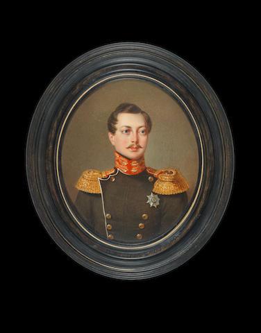 Attributed to Jan Kaniewski (Polish, 1805-1867) Grand Duke Alexander Nikolaevich