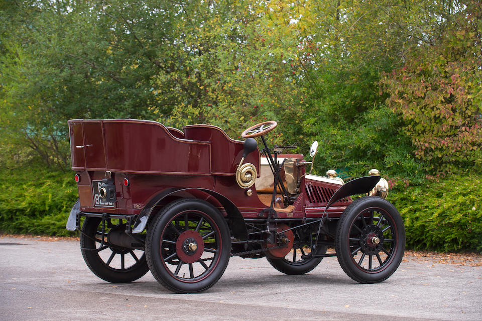 1901 Schaudel 10hp Twin-Cylinder Four-seat Rear-entrance Tonneau  Chassis no. 2