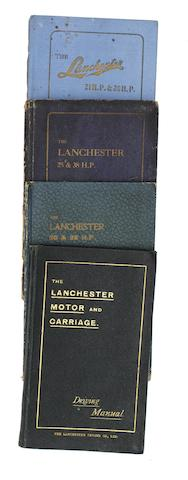 A Lanchester Motor & Carriage Driving Manual, circa 1902 (part II) and Three Lanchester 'Descriptive Manuals',  ((4))