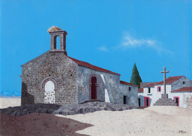Tristram Hillier R.A. (British, 1905-1983) The Chapel at Zarza 25.4 x 35.6 cm. (10 x 14 in.)