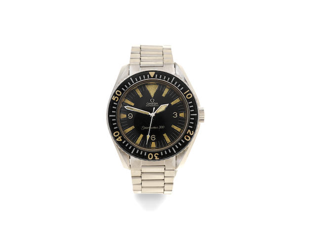 Omega. A stainless steel military style automatic bracelet watch  Seamaster 300, Ref: 165024-64 SC, Circa 1965